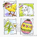 Simply Stated - Easter Set (4 stamps)