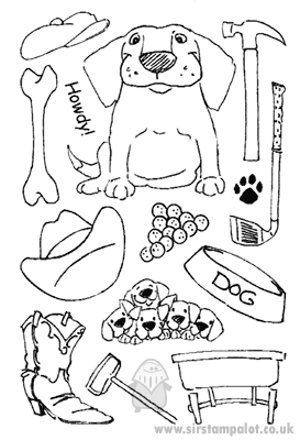 Clear Stamp Set - Mouthfuls - Dog