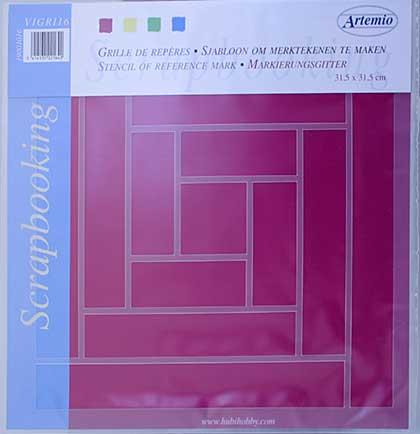 Artemio - Scrapbooking Grid - Squares and Rectangles
