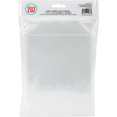 Avery Elle Stamp and Die Storage Pockets 50pk - Large (5.5x7.25)