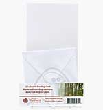 12 x Square Greeting Cards and Envelopes - White