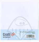 SO: Craft UK Ltd 6x6 inch Envelopes - White (50)