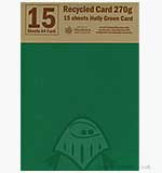 Recycled Card 270gsm A4 Holly Green (15 sheets)
