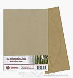 Tall Greetings Card Blanks w/Envelopes - Ribbed Brown 12PK