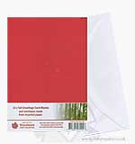 Tall Greetings Card Blanks w/Envelopes - Red 12PK
