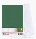 Tall Greetings Card Blanks w/Envelopes - Green 12PK