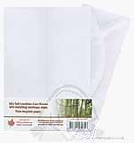 Tall Greetings Card Blanks wEnvelopes - White 50PK