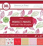 Perfect Prints Stack Packs - Rouge (6x6 30 Assorted Sheets)