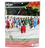 Bucilla Felt Garland Applique Kit - Santas Laundry