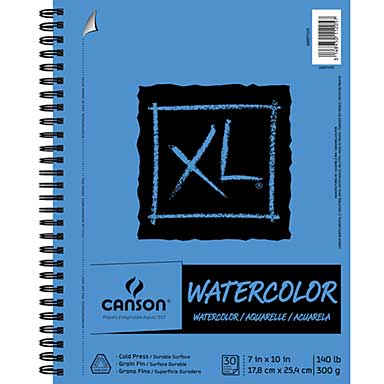 SO: Canson XL Watercolor Pad 7 x 10, 30 Sheets