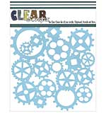 SO: Clear Scraps Stencils - Cog Gears (6x6)