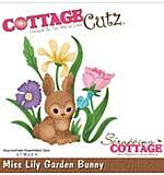 CottageCutz Die - Miss Lily Garden Bunny