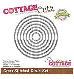 CottageCutz Basics Dies 7pk - Cross Stitched Circle .75 To 3.75