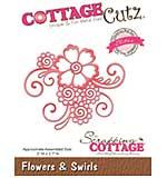 Cottagecutz Elites Die - Flowers and Swirls, 3x2.7