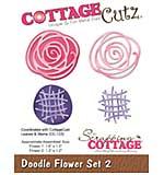 CottageCutz Die - Doodle Flower Set 2, 1.1 To 1.6