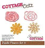 CottageCutz Die - Doodle Flower Set 3, 1.4 To 1.8