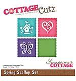 CottageCutz Die - Spring Scallop, 1.8x1.8