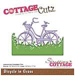 CottageCutz Die - Bicycle In Grass, 1.7 To 3.9