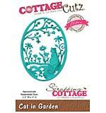 CottageCutz Elites Die - Cat In Garden, 2.2x3