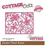 CottageCutz Elites Die - Garden Floral Scene, 3.9x3