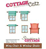CottageCutz Die - Wing Chair and Window Shade, 1 To 1.2