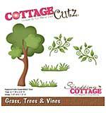 CottageCutz Die - Grass Tree and Vines, 1.2 To 3.5