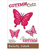 CottageCutz Die - Lisbeth Butterfly, 2x1.8