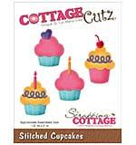 CottageCutz Die - Stitched Cupcakes, 1.6x2