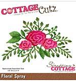 CottageCutz Die - Floral Spray, 3.5x2.3
