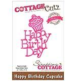 CottageCutz Elites Die - Happy Birthday Cupcake, 2.1x3