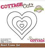 CottageCutz Basics Frame Dies 4-pkg - Heart, .4x.4 To 3.1x2.9