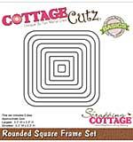 CottageCutz Basics Frame Dies 9-pkg - Rounded Square, .3x.3 To 3.3x3.3