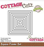 CottageCutz Basics Frame Dies 9-pkg - Square, .3x.3 To 3.3x3.3