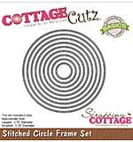 CottageCutz Basics Frame Dies 9-pkg - Stitched Circle, .75 To 3.75