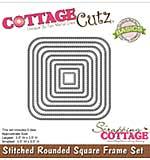 CottageCutz Basics Frame Dies 9-pkg - Stitched Rounded Square