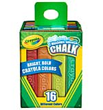 Crayola Washable Sidewalk Chalk - Assorted Colors 16pk