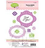 JustRite Cling Stamp set - Fancy Labels