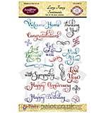 JustRite Clear Stamps Set - Large Fancy Sentiments