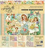 Graphic 45 - 8x8 Paper Pad - Sweet Sentiments