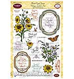 JustRite Clear Stamps Set - Black-Eyed Susan Vintage Labels