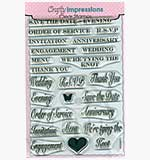 Crafty Impressions Clear Stamps set - Wedding Sentiments