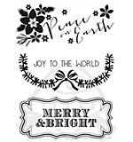 Kaiser Craft - Clear Stamps - Holly Bright Peace
