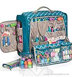 We R Memory Keepers - 360 Crafters Rolling Bag - Blue and Gr