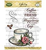 JustRite Cling Stamp set - Coffee Cup