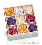 Felt ornament box flower