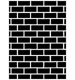 Embossing Folder 4.25x5.75 - Brick Pattern