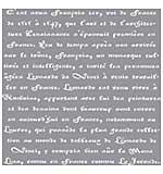 Americana Decor Stencil 12x12 - Old French Script
