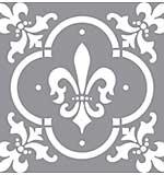 Americana Decor Stencil 12x12 - Fleur De Lis Tile