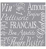 Americana Decor Stencil 12x12 - French Living