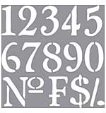 Americana Decor Stencil 12x12 - Olde World Numbers